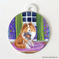 DOUBLE SIDED PET ID TAG · BEDTIME BUDDIES · SABLE SHELTIE · AMY BOLIN