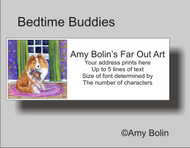ADDRESS LABELS · BEDTIME BUDDIES · SABLE SHELTIE · AMY BOLIN