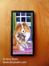 CHECKBOOK COVER · BEDTIME BUDDIES · SABLE SHELTIE · AMY BOLIN