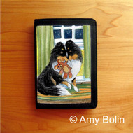 TRIFOLD WALLET · BEDTIME BUDDIES · TRI COLOR SHELTIE · AMY BOLIN