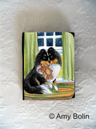 SMALL ORGANIZER WALLET · BEDTIME BUDDIES · TRI COLOR SHELTIE · AMY BOLIN