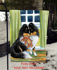 GARDEN FLAG · BEDTIME BUDDIES · TRI COLOR SHELTIE · AMY BOLIN