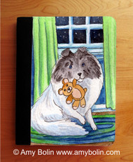 NOTEBOOKS (SEVERAL SIZES AVAILABLE) · BEDTIME BUDDIES · COLOR HEADED WHITE SHELTIE · AMY BOLIN