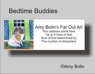 ADDRESS LABELS · BEDTIME BUDDIES · COLOR HEADED WHITE SHELTIE · AMY BOLIN
