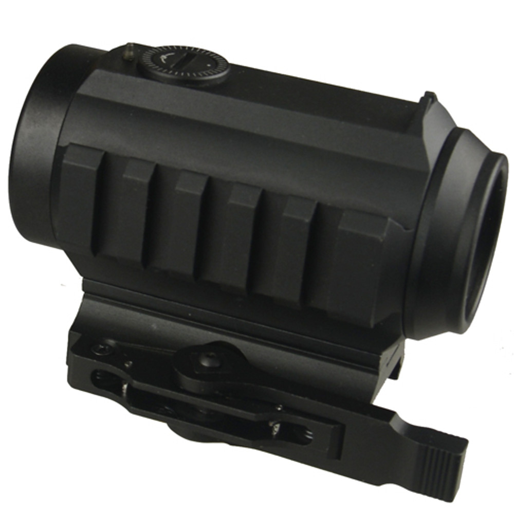 1x30 Dot Sight Red/Green Illuminated with top Iron Sight,Quick Detach Mount, and Come with a High Profile Riser