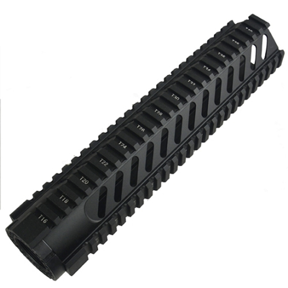 """AR-15 10"""" Mid-Length Free Float Rail System With Diagonal Slots"""