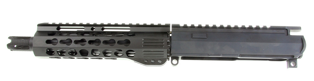 "Davidson Defense Premium Pistol Billet Upper Receiver with 7.5"" Pentagon Keymod 7"" .223 WYLDE and 4 Port Muzzle Brake"