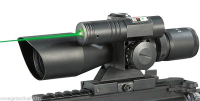 2.5-10X40 DUAL ILLUMINATED SCOPE W/ GREEN LASER