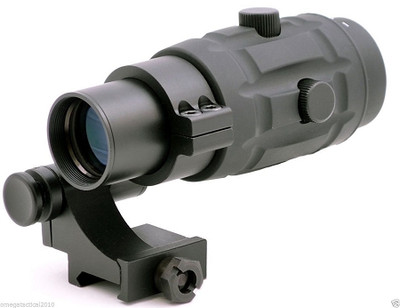 Premium 3x Magnifier & 90 Degree Flip to Side Mount for Red Dot Sight