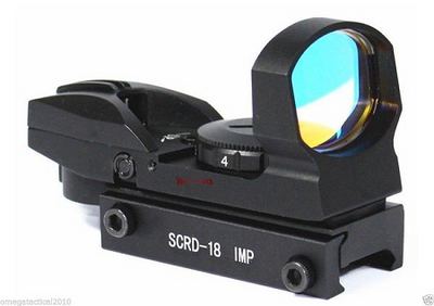 Vector Optics Tactical Imp 1x23x34 Multi Reticle Reflex Red Dot Sight Scope