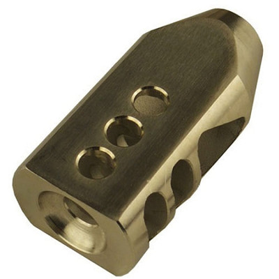 Omega Mfg AR-15 5.56 223 TPI Stainless Competition Tanker Muzzle Brake Compensator w/crush washer