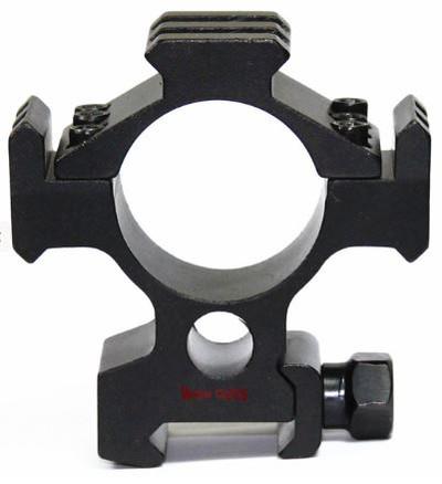 Hydra 30mm Tri-Rails Weaver Mount Scope Rings