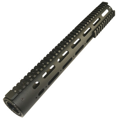 AR-15 Smooth Pro 15 inch Free Float Tube Handguard With Rails & New Barrel Nut