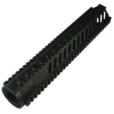 """AR-15 12"""" Rifle Length Free Float Rail System With Diagonal Slots"""