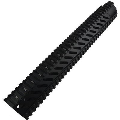 "AR-15 Rifle Length 15"" Free Float Rail System With Diagonal Slots"