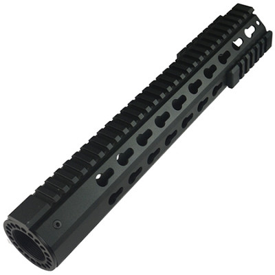 "Omega Mfg Inc Premium  12"" Rifle Length  Keymod Modular Octagon Slim Free Float Handguard"