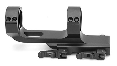 AR15 M4 Flat Top Offset One Piece QD Scope Mount with Quick Release Cam Locks - Fits Picatinny Rails