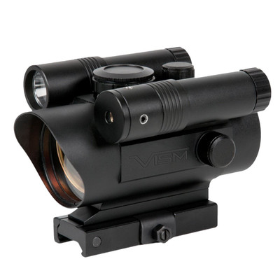 VISM Red Dot Sight with Green Laser and Flashlight