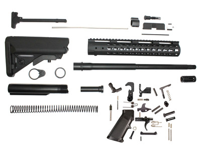 "Davidson Defense Complete AR-15 Kit 7.62x39 16"" Nitride Barrel 1:10 12"" Keymod Handguard Sopmod Buttstock Kit Lower Parts Kit (Minus BCG & Lower & Upper Receivers)"