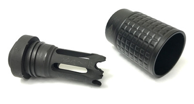 YHM 5.56 Cal Blast Deflector & Phantom 5.56 Q.D. Flash Hider 2 Piece Set