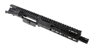"Davidson Defense AR-15 Pistol Upper 7.5"" Nitride 5.56 1:7 Barrel W/ Slim KeyMod Handguard & A2 Flash hider"