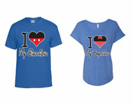 I love My Girlfriend t shirt I love My boyfriend Ladies Triblend Dolman couples gift shirts