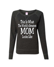 Mothers day My daughter has an awesome mother Ladies Long Sleeve