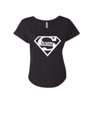 Mothers day super mom Ladies Triblend Dolman