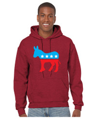 Democratic Donkey men Hooded Sweatshirt