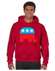 Republican Party Elephant men Hooded Sweatshirt