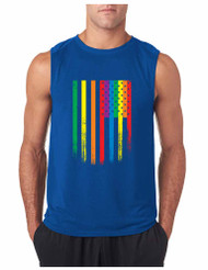 COLOR USA FLAG GYM Adult Sleeveless T Shirt