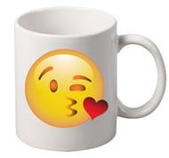 EMOJI kiss coffee tea mugs gift
