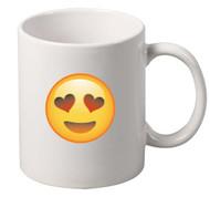 EMOJI heart Eyes coffee tea mugs gift