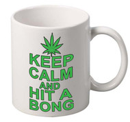 Keep Calm And Hit A Bong coffee tea mugs gift