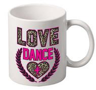 Love Dance coffee tea mugs gift