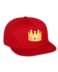 Emoji Crown Flat Bill Cap gift