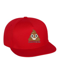 Emoji Shit Happens Flat Bill Cap gift
