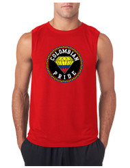 COLOMBIAN  PRIDE GYM Adult Sleeve less T Shirt