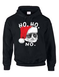 HO HO NO Grumpy Cat Women Hooded Sweatshirt