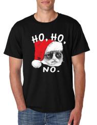 HO HO NO Grumpy Cat men T-Shirts