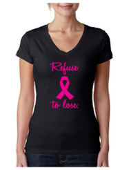 Refuse To Lose Breast Cancer T-Shirt  Sporty Tee