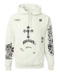 Bieber Son of God body Tattoos Hooded sweatshirt unisex