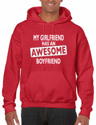 My Girlfriend has an awesome boyfriend Mens hooded sweatshirt valentine gift