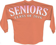 Seniors class of 2016 pink pom print J america women Long sleeve shirt