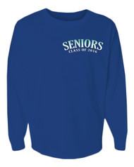 Seniors class of 2016 Blue pom print J america women Long sleeve shirt