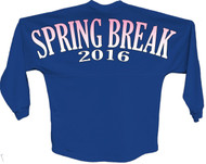 Spring break 2016 pink pom print J america women Long sleeve shirt