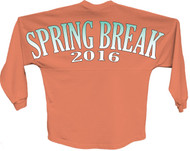 Spring break 2016 blue pom print J america women Long sleeve shirt