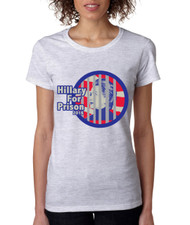 Hillary for prison 2016 Missy Fit Ladies T Shirt