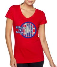 Hillary for prison 2016 Jersey V Neck T Shirt