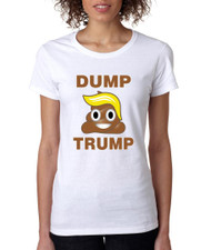Dump Trump 2016 elections Missy Fit Ladies T Shirt